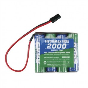Hobbico HydriMax NiMH 4-Cell 4.8V 2000mAh Flat AA Rx U Receiver Battery HCAM6321