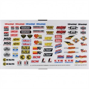 Traxxas Sponsor Decal Sheet TRA2514
